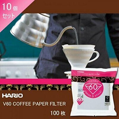 Hario  V60 For The Paper Filter 03W 100 Sheets Vcf-03-100W 10 Pieces Japan