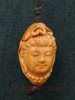 Collection Old Chinese Hand Carving Olive Buddha Statue Amulet Necklace Pendant