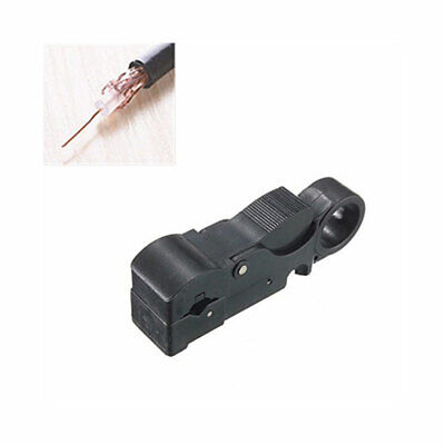 1pcs Rotary Coaxial Coax Aerial Sky TV Cable Stripper Cutter Tool RG59 RG58