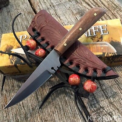 Full Tang Western Style Fixed Blade Patch Knife Leather Sheath NEW 203296 D