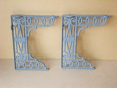 Antique Pair Of Victorian Cast Iron Toilet Seat Brackets.