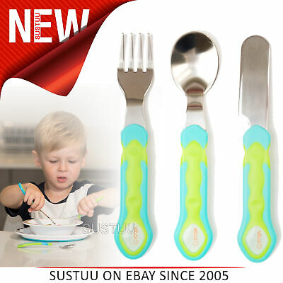 Vital Baby Stainless Steel Cutlery Set│Kids Feeding set│Knife,Fork & Spoon│Blue