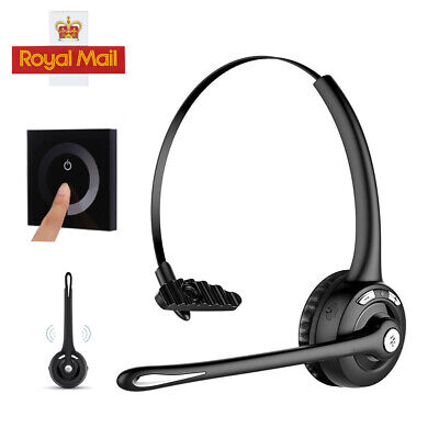 Trucker Pro w Headphone Handsfree Car Bluetooth Phone Mic Office Headset MP Mpow