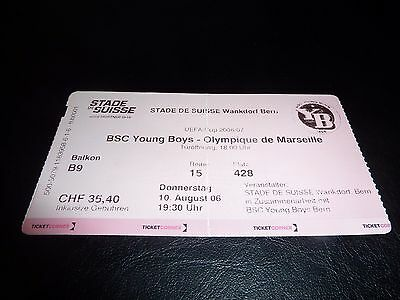 used ticket bsc young boys berne - olympique de marseille 10/08/2006