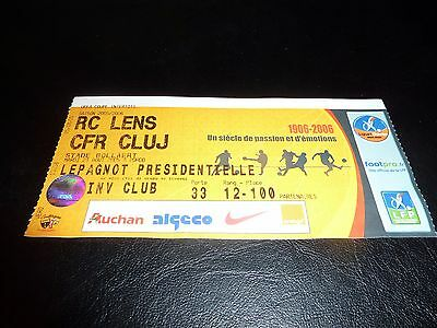 used ticket rc lens - cfr cluj  23/08/2005