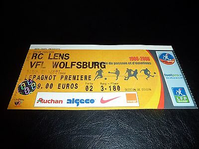used ticket rc lens - vfl wolfsburg  03/08/2005