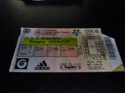 used ticket rsc anderlecht - bologna  21/10/1999