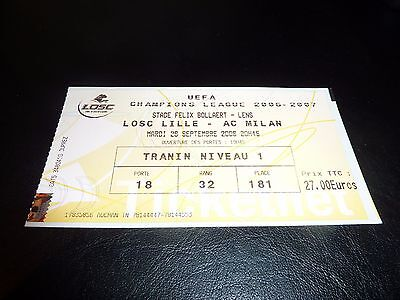 used ticket Lille - Ac Milan  26/09/2006