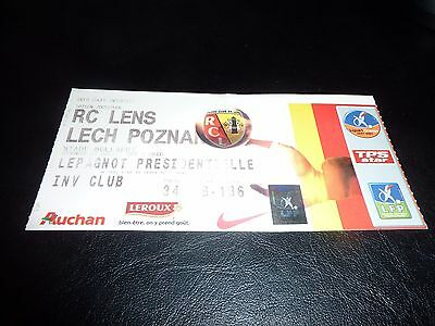used ticket rc lens - lech poznan 03/07/2005