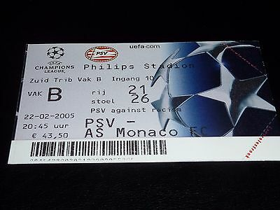 used ticket psv eindhoven - as monaco fc  22/02/2005