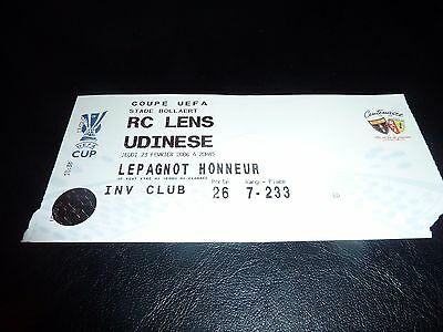 used ticket rc lens - udinese  23/02/2006