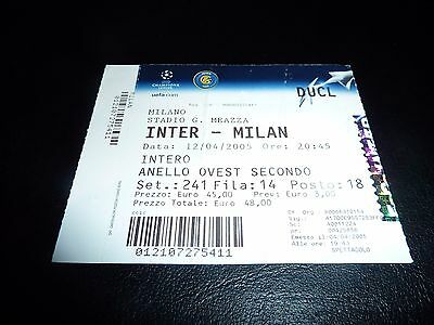 used ticket Internazionale - AC Milan  12/04/2005