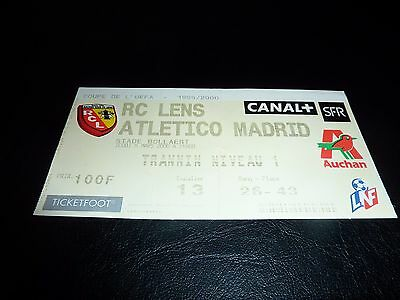 used ticket rc lens - atletico madrid  09/03/2000