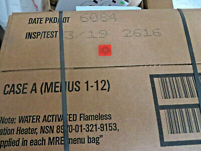 Sopakco Case  A of MRE's Unopened Date 2018,  (12 Different Meals)meals 1-12