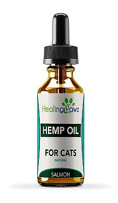 Healing Pawz - 125MG Pure Extract Natural Hemp Oil Drops For Cats Pets 10ml