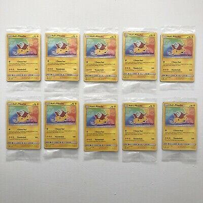 New Pokemon Ash's Pikachu I Choose You Movie Card Pack - Lot Of 10 - Detective