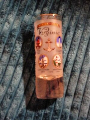 Lighthouse Shot Glass Lighthouses Of Virginia Frosted Illustrated Collectable Vg