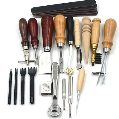 Leder Werkzeug Leather Craft Hand Sewing Stitching Groover Tool Kit Set