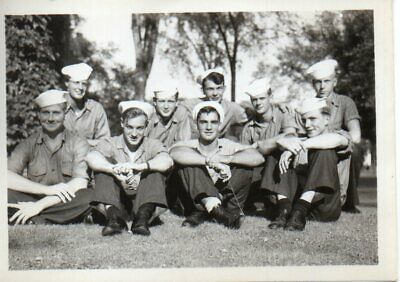 61764. Orig WWII Photo US Navy Ship's Crew South Pacific identified on back