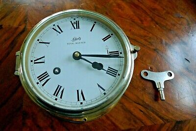 SCHATZ UHR Glasenuhr Messing Schiffsuhr Royal Mariner 18cm