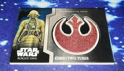 StarWars Rouge One MB: Rebel Patch Relic Card 'Edrio Two Tubes'. 9 of 13.
