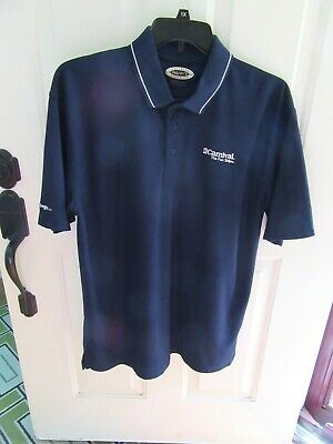 Carnival Cruise Men's Navy Blue Polo Shirt Sz Large Let the Fun Begin