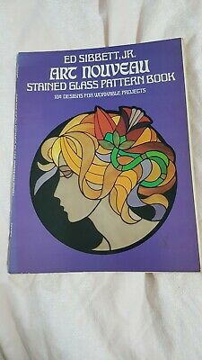ART NOUVEAU stained glass pattern book 104 Designs for workable projects