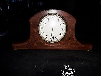 Antique french Daverdrey &  Bloque Inlayed Mantle Clock Working