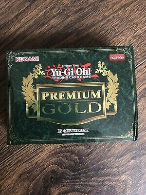 Yu-gi-oh Premium Gold Green Sealed Booster Pack Box
