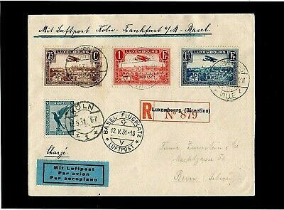 Luxembourg - Germany - Switzerland - 1931 - Registered Cover - With Cds Postmark