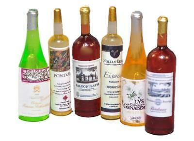 Dolls House Selection of Wine Bottles Miniature Bar Pub Dining Room Accessory