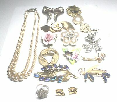 17 Pieces Collection Gold & Silver Tone Costume Jewellery - B84