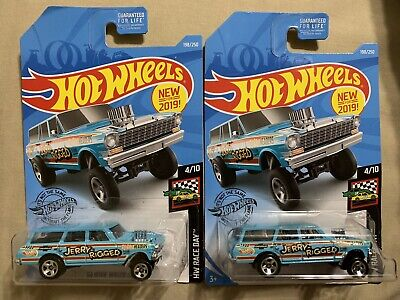 64 Nova Wagon Gasser Jerry Rigged 2019 Hot Wheels Case K Lot Of 2
