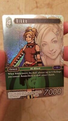 Final Fantasy TCG (FFTCG) FOIL Rikku 1-090R Wave 1 Errata - NM/M!