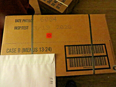 Sopakco Case B of MRE's Unopened Date 2018 (12 Different Meals)meals 13-24