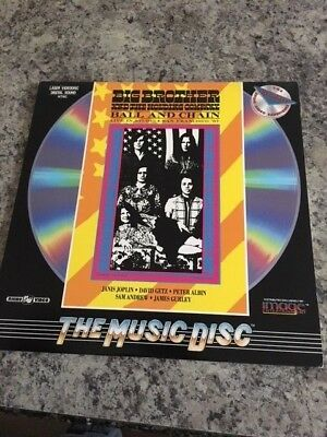 Big Brother and the Holding Company Live in Studio Laserdisc Janis Joplin MINT !