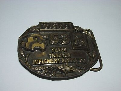 Tisco Tractor Implement Supply Co. Belt Buckle, By Siskiyou, Dated 1987,
