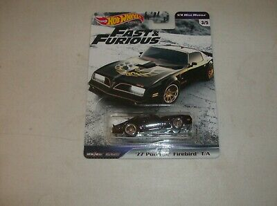 HOT WHEELS 2019 FAST AND FURIOUS PREMIUM '77 Pontiac Firebird 1/4 Mile Muscle