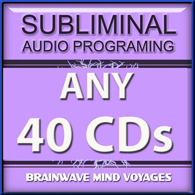 ANY 40 SELF IMPROVEMENT CDs Subliminal Hypnosis ADVANCED BEHAVIOR MODIFICATION