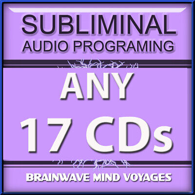 ANY 17 CDs POWERFUL MIND ALTERING AUDIO Subliminal Program ADVANCED BRAIN POWER