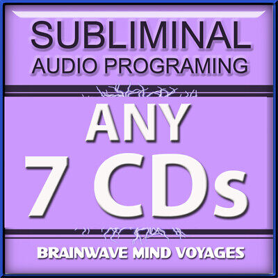 ANY 7 CDs SUBLIMINAL HYPNOSIS WORKS Brain Enhancer Mind Development FAST RESULTS