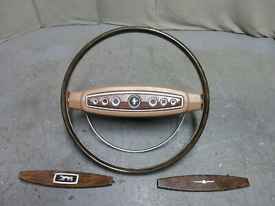 68 Shelby Nugget Mustang Parchment Deluxe Steering Wheel 68 XR7 Woodgrain