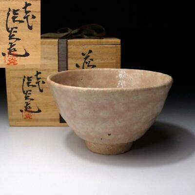 XL9: Japanese Tea bowl, Hagi Ware by the 1st class potter, the 7th Keien Kaneda