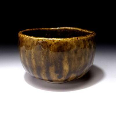 VK3 Japanese Tea bowl, Seto ware by Great Human Cultural Treasure, Sakusuke Kato