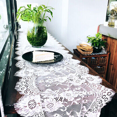 Table Cloth Cover Lace Towel Pastoral Style Polyester Embroidery Rectangle B