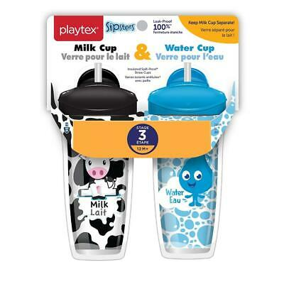 Playtex Baby Sipsters Spill-Proof Straw Cup, Stage 3 (12+ Months) - 2 Pack