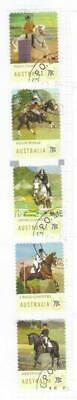 Australia 2014 Equestrian Used Set Of 5 Self Adhesive