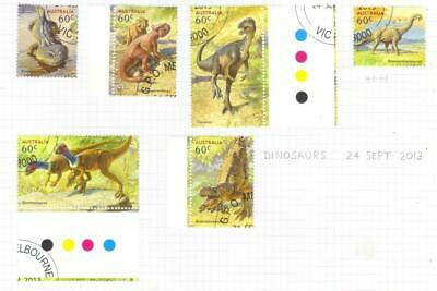 Australia 2013 Age Of Dinosaurs Used Set Of 6