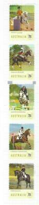 Australia 2014 Equestrian Mh Set Of 5 Self Adhesive