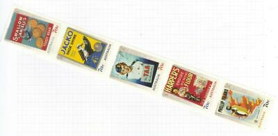 Australia 2014 Nostalgic Advertisements Mh Set Of 5 Self Adhesive